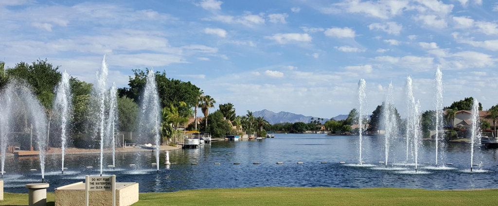Garden Lakes neighborhood in Avondale Arizona in the Phoenix AZ West Valley pressure Washing