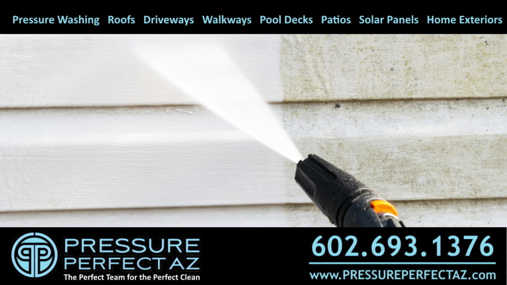 Peoria AZ pressure washing and power washing services for residential homes and commercial properties and buildings