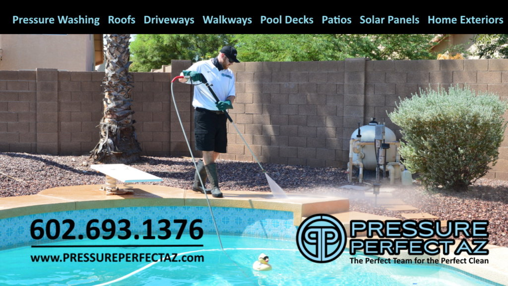Pressure Perfect AZ pressure power washing cleaning and covid 19 sanitation and disinfection Peoria Arizona Phoenix West Valley